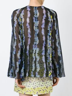 Прозрачная Блузка С Цветочным Принтом GIAMBA                                                                                                              черный цвет