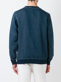 Толстовка С Джинсовым Эффектом adidas Originals                                                                                                              синий цвет