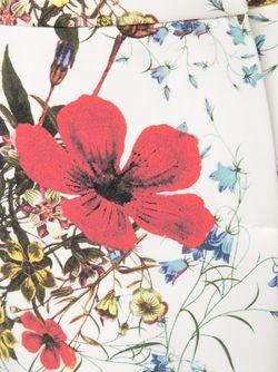 Креповые Брюки С Цветочным Принтом Erdem                                                                                                              белый цвет