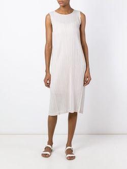 Гофрированное Платье PLEATS PLEASE BY ISSEY MIYAKE                                                                                                              Nude & Neutrals цвет