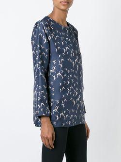 Блузка С Принтом Танцоров Max Mara                                                                                                              синий цвет