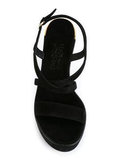 Босоножки Gina Salvatore Ferragamo                                                                                                              чёрный цвет