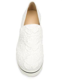 Кружевные Лоферы Binx Stella Mccartney                                                                                                              белый цвет
