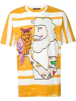 Футболка С Принтом Моряка Dolce & Gabbana                                                                                                              желтый цвет