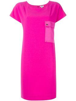 Платье С Карманом Kenzo                                                                                                              розовый цвет