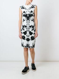 Платье С Цветочным Узором Alexander McQueen                                                                                                              белый цвет