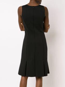 Приталенное Платье С Цветочным Принтом Carolina Herrera                                                                                                              чёрный цвет