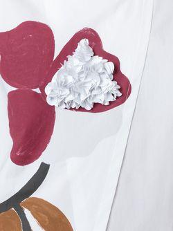 Асимметричная Футболка С Цветочным Принтом Erika Cavallini                                                                                                              белый цвет