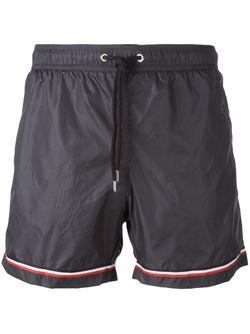 Плавательные Шорты С Заплаткой С Логотипом Moncler                                                                                                              серый цвет