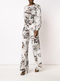 Блузка С Парчовым Принтом Carolina Herrera                                                                                                              Nude & Neutrals цвет