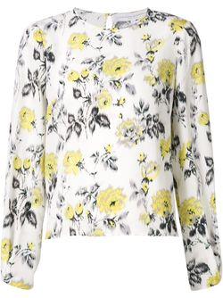 Блузка С Принтом Роз Carolina Herrera                                                                                                              белый цвет
