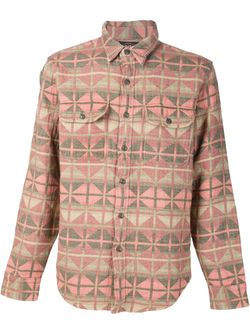 Рубашка С Ацтекским Узором RRL                                                                                                              розовый цвет