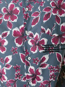 Рубашка С Принтом Цветков Гибискуса Valentino                                                                                                              серый цвет