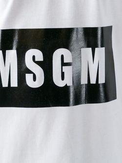 Майка С Принтом Логотипа MSGM                                                                                                              белый цвет