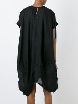Драпированное Асимметричное Платье JUNYA WATANABE COMME DES GARCONS                                                                                                              чёрный цвет