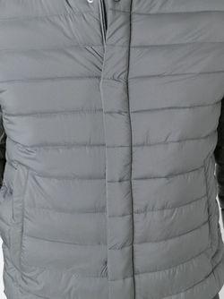 Стеганая Куртка С Манжетами В Рубчик Herno                                                                                                              серый цвет