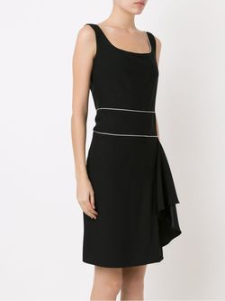 Square Neck Pleated Dress Reinaldo Lourenço                                                                                                              чёрный цвет