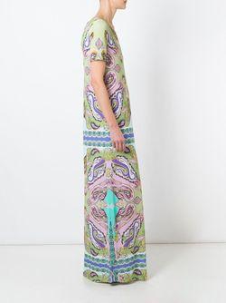 Длинное Платье С Принтом Пейсли Etro                                                                                                              None цвет