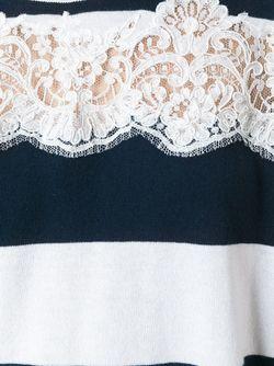 Lace Panel Stripe Top Ermanno Scervino                                                                                                              белый цвет