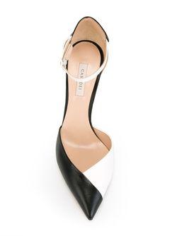 Двухцветные Туфли Casadei                                                                                                              черный цвет