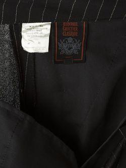 Брюки В Тонкую Полоску JEAN PAUL GAULTIER VINTAGE                                                                                                              чёрный цвет