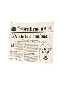 Клатч С Принтом Газеты Mr. Gentleman                                                                                                              белый цвет
