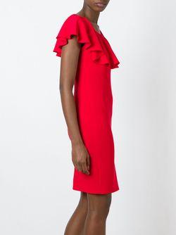 Приталенное Платье С Оборками BOUTIQUE MOSCHINO                                                                                                              красный цвет