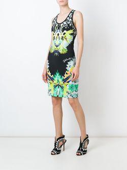 Облегающее Платье С Абстрактным Принтом Just Cavalli                                                                                                              чёрный цвет