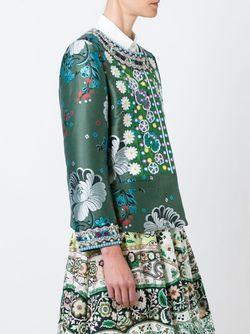 Жаккардовый Пиджак С Цветочной Вышивкой Etro                                                                                                              зелёный цвет