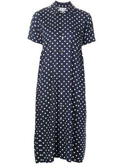 Свободное Платье-Рубашка В Горошек COMME DES GARCONS COMME DES GARCONS                                                                                                              синий цвет