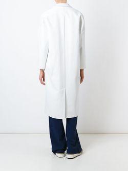 Пальто С Заостренными Лацканами MSGM                                                                                                              белый цвет