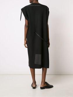 Асимметричное Платье С Лямками Issey Miyake                                                                                                              черный цвет