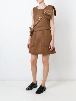 Декорированное Платье Simone Rocha                                                                                                              коричневый цвет