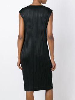 Платье С Гофрированным Дизайном PLEATS PLEASE BY ISSEY MIYAKE                                                                                                              черный цвет