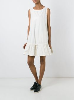 Flared Sleeveless Dress Moncler                                                                                                              белый цвет