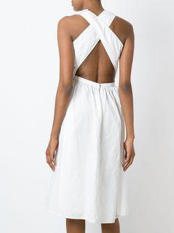 Расклешенное Жаккардовое Платье Rochas                                                                                                              белый цвет