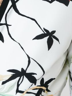 Bird Print V-Neck Dress Roberto Cavalli                                                                                                              белый цвет