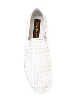 Плетеные Кеды-Слипон Cesare Paciotti                                                                                                              белый цвет