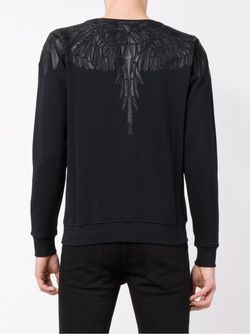 Leather Trimmed Sweatshirt MARCELO BURLON COUNTY OF MILAN                                                                                                              чёрный цвет