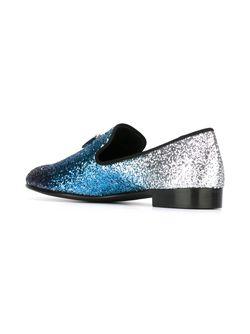 Блестящие Слиперы С Кисточками Giuseppe Zanotti Design                                                                                                              синий цвет