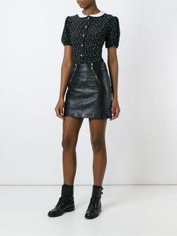 Блузка В Горошек Saint Laurent                                                                                                              черный цвет