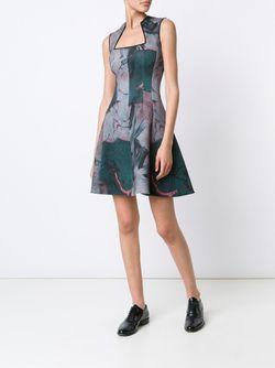 Платье С Принтом Yigal Azrouel                                                                                                              зелёный цвет