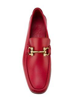 Лоферы Gancini Salvatore Ferragamo                                                                                                              красный цвет