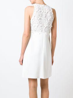 Платье С Цветочным Кружевом GIAMBA                                                                                                              белый цвет