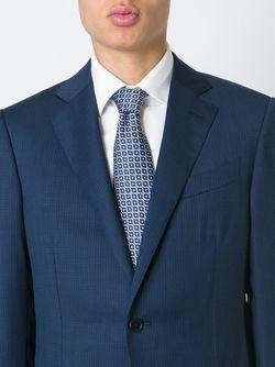 Галстук С Квадратным Принтом Ermenegildo Zegna                                                                                                              синий цвет