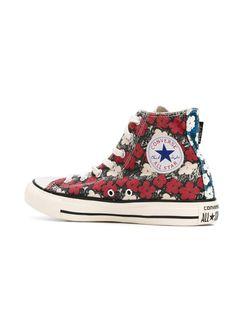 Высокие Кеды С Цветочным Принтом Converse                                                                                                              красный цвет