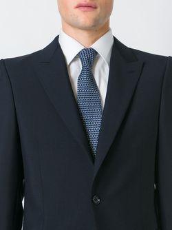 Галстук С Графическим Принтом Hermès Vintage                                                                                                              синий цвет