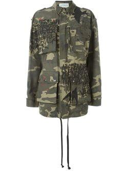 Куртка С Камуфляжным Принтом Faith Connexion                                                                                                              зелёный цвет