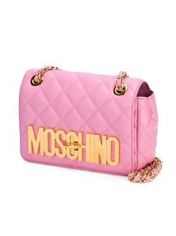Стеганая Сумка Через Плечо Moschino                                                                                                              розовый цвет