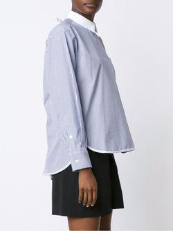 Полосатая Рубашка Sacai                                                                                                              синий цвет